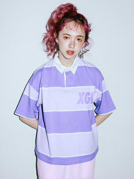 X-girl(エックスガール)S/S RUGBY SHIRT