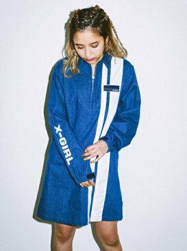 X-girl(エックスガール)PIT CREW HALF ZIP DRESS