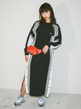X-girl(エックスガール)PANELED TRACK DRESS