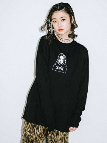 X-girl(エックスガール)FACE L/S TEE