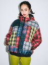X-girl(エックスガール)PATCHWORK PUFFER JACKET