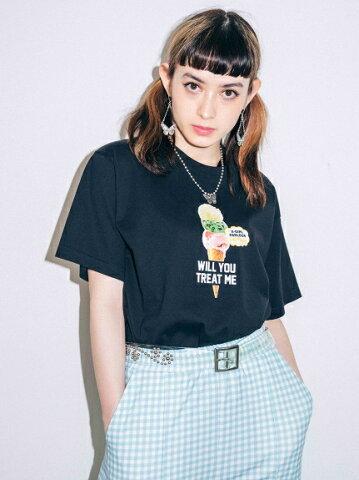 X-girl(エックスガール)ICE CREAM S/S TEE