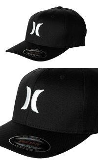 HurleyMen'sOne&OnlyBlackFlex-FitHatキャップMAFCOOBLKWHT帽子【あす楽対応】【楽ギフ_包装】