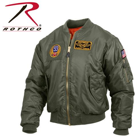 【再入荷】ロスコ MA-1 ROTHCO 正規品ADAPT MA-1 FLIGHT JACKET PATCHESフライトジャケットMA1パッチ ワッペン付き【1217】