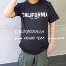 CALIFORNIAプリントロゴ黒半袖TEEシャツブラックロゴアメカジシンプルモードコットン100%メンズレディースユニセックス[1019]