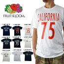 カリフォルニア/ニューヨーク/ブルックリン(アメリカロゴ)CALIFORNIAプリントロゴTシャツ白黒半袖TEEシャツブラックロゴアメカジシンプルモードコットン100%古着好きフルーツオブザルームメンズレディースユニセックス[0320]