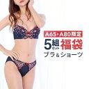 【サイズ限定】Aカップ 福袋 5組 ブラジャー ショーツ セ...