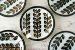 ベルギー製BOCHボッホRambouillletランブイエ磁器ケーキプレート18.7cmお皿陶器アンティーク食器ヨーロッパ