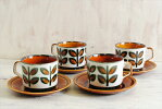 ベルギー製BOCHボッホRambouillletランブイエコーヒーカップ&ソーサー磁器陶器アンティーク食器ヨーロッパ【中古】