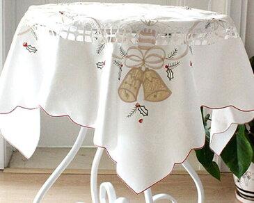 テーブルクロス 刺繍 正方形 贈り物 ギフト エレガント ゆうパケット対応 北欧 おしゃれ