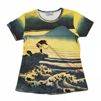 """Katsushika Hokusai, """"rock group swamp Koshu, Japan's largest, pattern ladies print t-shirts series"""