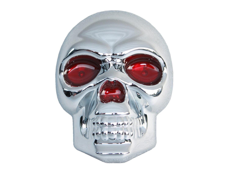 ヒッチカバー ヒッチメンバー カバー スカル ドクロ LED付き 汎用 ブリー BULLY