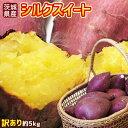 送料無料 【茨城県産さつまいも シルクスイート 訳あり 約5kg】(S〜2L) [※他商品との同梱不可][※常温便]