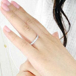 pt900【0.73ct】ダイヤモンドハーフエタニティリング