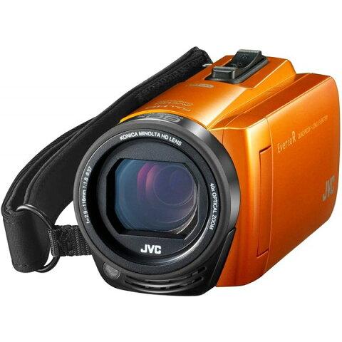 JVCケンウッド ビデオカメラ Everio R 防水 防塵 Wi-Fi 64GB サンライズオレンジ GZ-RX670-D
