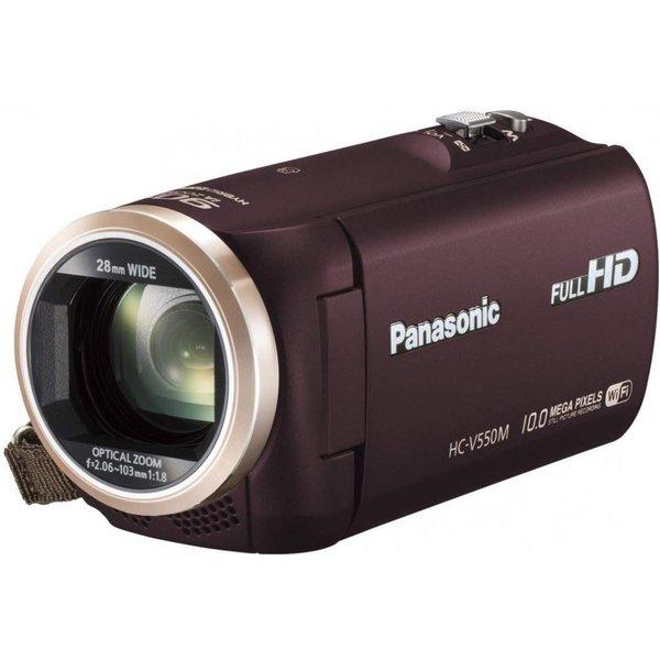 パナソニック Panasonic デジタルハイビジョンビデオカメラ 内蔵メモリー32GB ブラウン HC-V550M-T