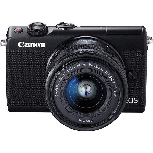 デジタルカメラ, ミラーレス一眼カメラ  Canon EOS M100 EF-M15-45 IS STM EOSM100BK1545ISSTMLK SD