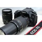 キヤノン Canon EOS 70D 超望遠ダブルズームセット 美品 新品Wi-SDカード付き