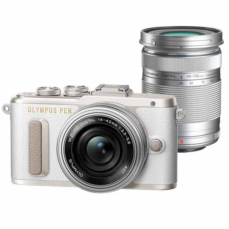 OLYMPUS オリンパス ミラーレス一眼カメラ PEN E-PL8 EZ ダブルズームキット ホワイト