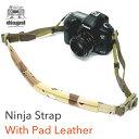 カメラストラップ レザー 一眼レフ ミラーレス ショルダーストラップ 革 レザー 斜めがけ コンデジ カモフラパッド内蔵型ストラップ 本革タイプdiagnl(ダイアグナル) Ninja Camera Strap With Pad Leather