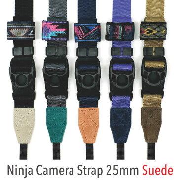 スウェードタイプ 伸縮自在のニンジャストラップ / diagnl(ダイアグナル) Ninja Camera Strap 25mm幅【5,000円(税抜)以上のご購入で送料無料】ショルダーストラップ カメラストラップ 斜めがけ ミラーレス レザー おしゃれ 長さ調節 日本製