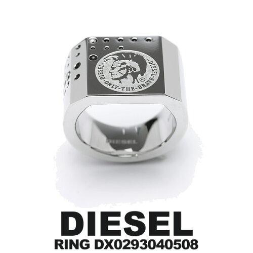 DIESEL ディーゼル リング DX0293040508 16号 メンズ ブランド アクセサリー ロゴ リング ブランド...
