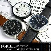 エントリーで最大P4倍 【腕時計】【メンズ】【限定】メンズ腕時計 フォーベル 限定モデル メンズ 腕時計 ミリタリー MILITARY ・ミリタリ ウォッチ 革ベルト うでどけい MEN'S