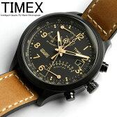 タイメックス TIMEX 腕時計 メンズ クロノグラフ インテリジェント レーシング フライバック T2N700 ミリタリー キャメル×ブラック 革ベルト レザー クロノ うでどけい MEN'S ウォッチ