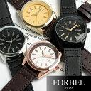 FORBEL メンズ 腕時計 レザー 革ベルト【限定モデル】 メンズ 腕時計 うでどけい MEN'S ウォッチ ランキング ブラック ブラウン《フォーベル》☆クォーツ