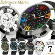 【Salvatore Marra/サルバトーレマーラ】 腕時計 メンズ クロノグラフ 立体インデックス 限定モデル ラバー SM14102 ウォッチ うでどけい MEN'S 多針アナログ 父の日 ギフト