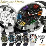 【Salvatore Marra/サルバトーレマーラ】 腕時計 メンズ クロノグラフ 立体インデックス 限定モデル ラバー SM14102 ウォッチ うでどけい MEN'S 多針アナログ ギフト