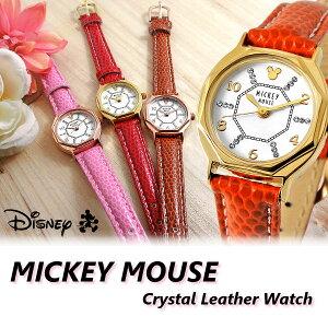 ミッキー 腕時計 ミッキーマウス レディース スワロフスキー キャラクター ウォッチ ミッキー 腕時計 女性用【Disney】Mickey Mouse【Disneyzone】