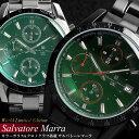 Salvatore Marra サルバトーレマーラ クロノグラフ 腕時計 メンズ カラーガラス限定モデル タキメーター クロノ 腕時計 メンズ 腕時計 うでどけい Men's クオーツ ウォッチ 多針アナログ