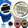 【ADIDAS】 アディダス 腕時計 メンズ レディース ユニセックス デジタル ラバーベルト ブラック レッド 防水 ランニング うでどけい ウォッチ