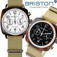 【送料無料】BRISTON ブリストン 腕時計 メンズ クロノグラフ ミリタリー NATOベルト クラシック ブランド 人気 ウォッチ レディース ユニセックス 13140