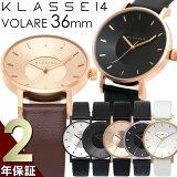 KLASSE14クラス14腕時計レディース36mm革ベルトレザーローズゴールドシルバ