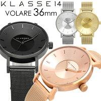 KLASSE14クラス14腕時計レディース36mmメタルメッシュベルトローズゴールド