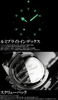 MASTERWATCHマスターウォッチクロノグラフダイバーズウォッチ20気圧防水ダイバーズウォッチ腕時計メンズクロノMEN'Sうでどけい