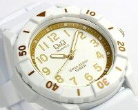 【CITIZEN】【Q&Q】シチズンカラフルウォッチ腕時計10気圧防水ラバーメンズレ