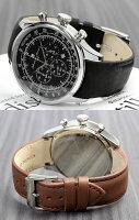 サルバトーレマーラ腕時計メンズクロノグラフクロノ革ベルトレザー腕時計メンズ腕時計ブランドランキングタキメーターウォッチうでどけいMEN'S多針アナログ