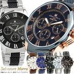【ファッションセール】【半額以下】【Salvatore Marra】 サルバトーレマーラ 腕時計 メンズ クロノグラフ 10気圧防水 コンビベルト SM15104 限定モデル 人気 ブランド ウォッチ 父の日 ギフト プレゼント