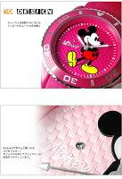 【ミッキーマウス】腕時計スワロフスキーシリコンMickeyMouseディズニーレディ