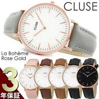 【送料無料】CLUSEクルース腕時計レディース革ベルトレザーウォッチローズゴールドピ
