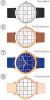 【送料無料】ChristianPaulクリスチャンポール腕時計ウォッチユニセックスクオーツ5気圧防水グリッドイタリアンレザーcp-43gr
