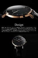 【ペアウォッチ】ダニエルウェリントンクラシックブラック腕時計ペア腕時計40mm&36
