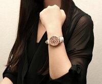 melantha腕時計レディーススワロフスキークリスタルキラキラ文字盤回転クオーツステンレスケース本革ベルト高級ウォッチとけい女性用melantha001
