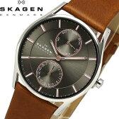 【送料無料】SKAGEN スカーゲン 腕時計 ウォッチ うでどけい メンズ 男性用 クオーツ 5気圧防水 カレンダー 革ベルト skw6086