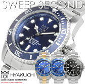 【送料無料】HYAKUICHI 101 ヒャクイチ 腕時計 ウォッチ メンズ 男性用 クオーツ 200m防水 ダイバーズウォッチ スイープセコンド hyaku1-009