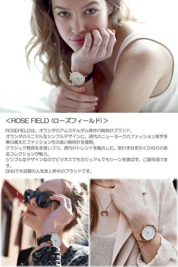ROSE FIELD ローズフィールド 腕時計 レディース ウォッチ THE WEST SIDE 33mm 日本製クオーツ 3気圧防水 ステンレス  本革製 ヌバック RF-04