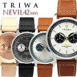 TRIWA/トリワ NEVIL 腕時計 クロノグラフ メンズ レディース ユニセックス ステンレス オーガニックレザー 日常生活強化防水 ストップウォッチ NEST